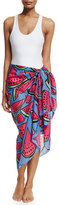 Anna Coroneo Watermelons Classic Voile Pareo, Blue/Pink