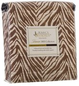 Jessica Sanders Authentic 1800 Series 4pc Bed Sheet Set - King Size, - Zebra, Brown