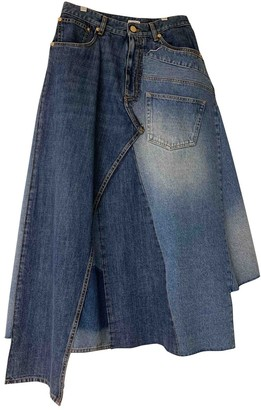 Loewe Blue Cotton Skirt for Women