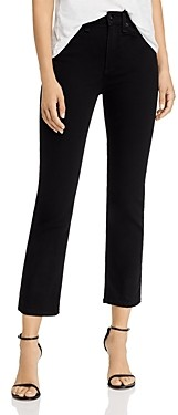 Rag & Bone Nina High-Rise Ankle Cigarette Jeans in No Fade Black