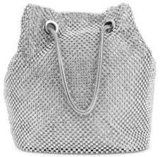 Jessica McClintock Valentina Embellished Diamondette Pouch