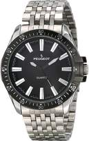 Peugeot Men's 1025BK Analog Display Japanese Quartz Silver Watch
