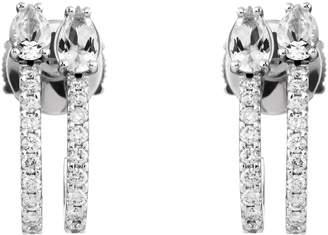 Swarovski x Paige Novick Arc-en-Ciel White Gold, Diamond and Topaz Double Hoop Earrings