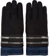 DSQUARED2 Black Denim Cuff Gloves