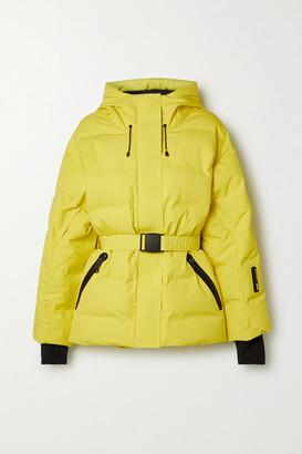 Ienki Ienki Sheena Hooded Belted Quilted Down Ski Jacket - Yellow