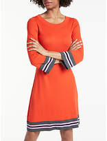 Boden Trudy Knitted Dress, Red Pop