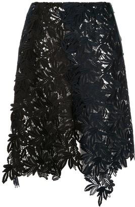 Kolor woven floral embroidered skirt