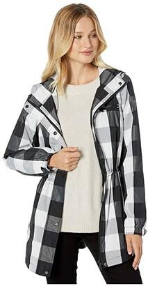 Calvin Klein Buffalo Check Anorak Jacket (Black/White) Women's Clothing