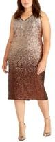 Rachel Roy Plus Size Sequin Ombre Midi Dress