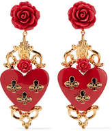 Dolce & Gabbana Gold-plated Resin Clip Earrings