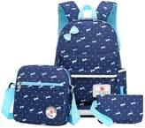 Greeniris Kids Cute School Backpack Women Rucksack 3 Pcs