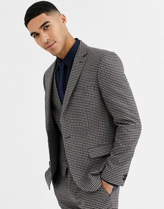 Rudie heritage houndstooth check skinny fit suit jacket