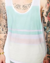 Asos Tank With Pastel Stripes And Extreme Racer Back