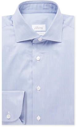 Brioni Blue Slim-Fit Cotton Shirt