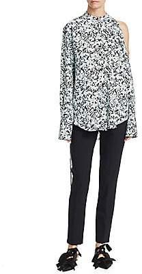 Proenza Schouler Women's Floral Button-Front Blouse - Size 0