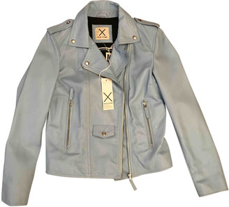 Each X Other Blue Leather Leather jackets