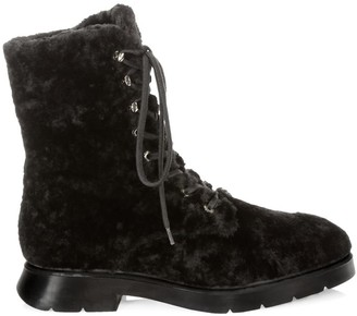 Stuart Weitzman McKenzee Chill Shearling & Leather Combat Boots