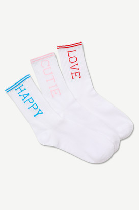 Ardene Happy Cutie Love Crew Socks