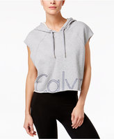 Calvin Klein Cotton Cropped Logo Hoodie