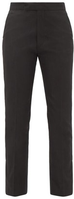 Raf Simons Ankle-zip Straight-leg Twill Trousers - Black