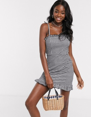 Miss Selfridge beach dress in gingham print