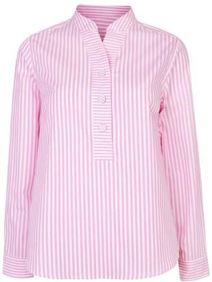 Nologo Chic Cotton Poplin Stripe Gigi Blouse - Pink