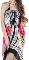 HERRICO Beach Wrap Sarong Pareo Cover up Swimwear Bikini Floral Pattern Chiffon Shawl