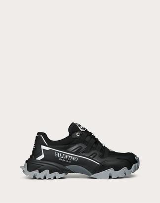 Valentino Garavani Uomo Climbers Sneaker In Fabric And Leather Man Black 100% Poliammide 39