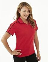 Tri-Mountain Women's Ultracool Johnny Collar Golf Shirt