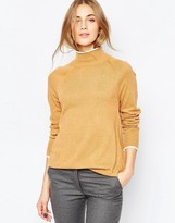 Asos Funnel Neck Sweater With Tipping