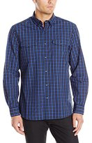 Kenneth Cole New York Kenneth Cole Men's Long Sleeve 2 Pocket Check Shirt