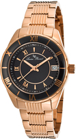 Lucien Piccard Black & Rose Gold Saraille Bracelet Watch - Women