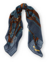Ralph Lauren Bridle-Print Wool Scarf