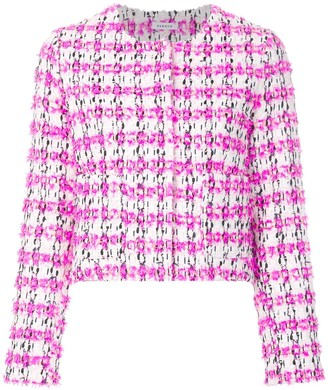 P.A.R.O.S.H. collarless textured jacket