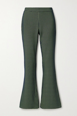 Stine Goya Nolan Jacquard Flared Pants - Navy
