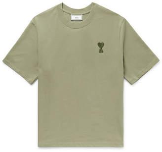 Ami Logo-Appliqued Cotton-Jersey T-Shirt
