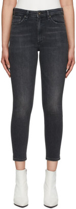 Rag & Bone Black Nina High-Rise Ankle Jeans