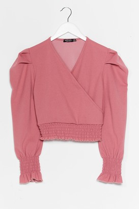 Nasty Gal Womens Don't Ruche It Wrap Crop Top - Pink - 12