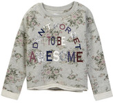C&C California Printed Fleece Cropped Pullover Sweater (Big Girls)