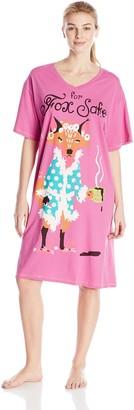 Hatley Little Blue House by Women's LBH for Fox Sake Ladies Sleepshirt