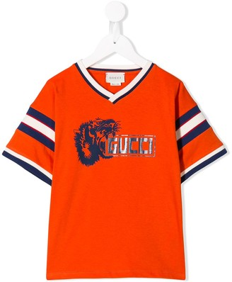 Gucci Kids Lion print T-shirt