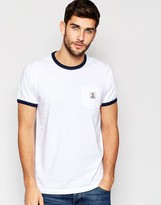 Franklin & Marshall Franklin And Marshall Crew Neck Tee With Contrast Neck