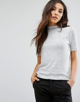 Only High Neck Knitted T-Shirt