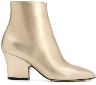 Salvatore Ferragamo metallic ankle boots