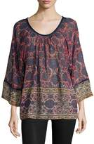 Plenty by Tracy Reese Women's Printed Dolman Blouse