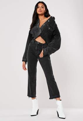 Missguided Black Co Ord Wrath High Waisted Jeans