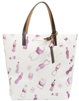 Marni Shopping bag with allover pattern