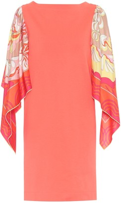 Emilio Pucci Silk-trimmed cotton minidress