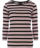 Dorothy Perkins Womens Multi Coloured Stripe T-Shirt