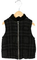 Makie Boys' Plaid Wool Vest